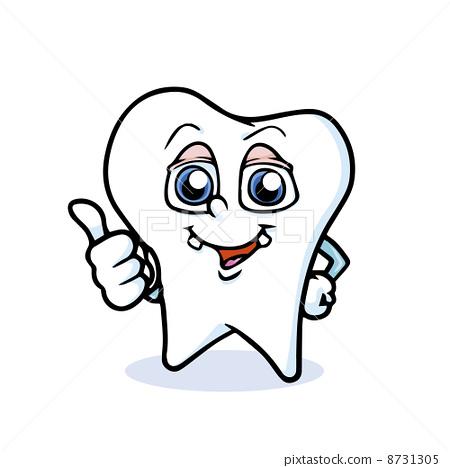 illustration : funny cartoon tooth