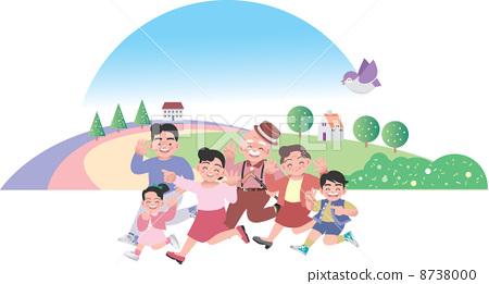 儿童跑步简笔画