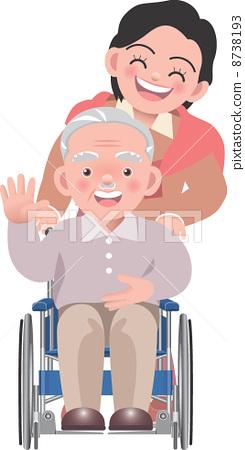 老年人 前辈 轮椅
