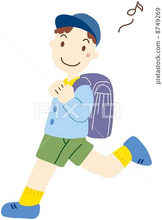 插图: 男孩们 小学学生 孩子