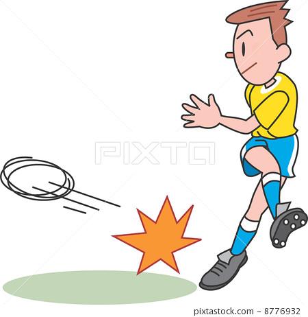 图库插图: 球员 足球运动员 插图