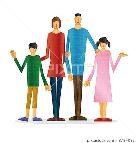 插图 工艺品 家庭 家庭 家族 家人  *pixta限定素材仅在pixta网站,或