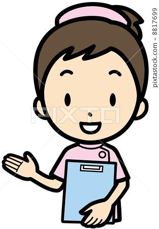图库插图: 矢量 护士 医护人员