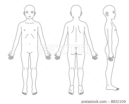 少儿手绘人体比例