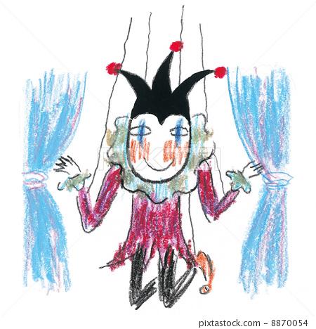 小丑 木偶 牵线木偶