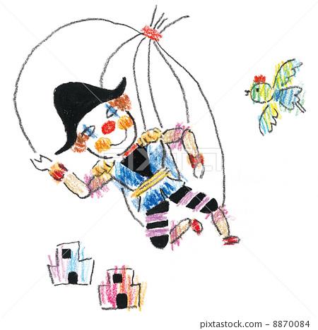 木偶 牵线木偶 小丑