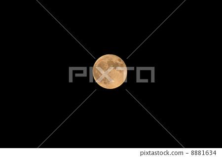 月亮 满月 黑色背景-图库照片