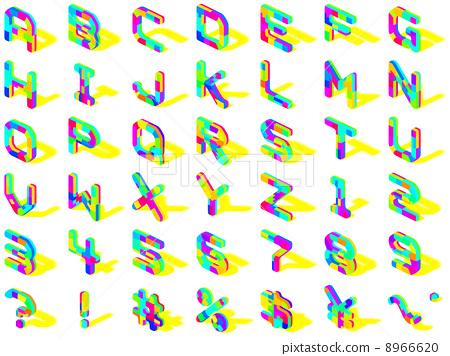 插图素材: 字母 阴影 影子