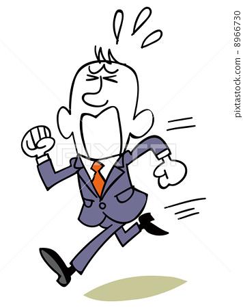 图库插图: 跑开 商务人士 矢量