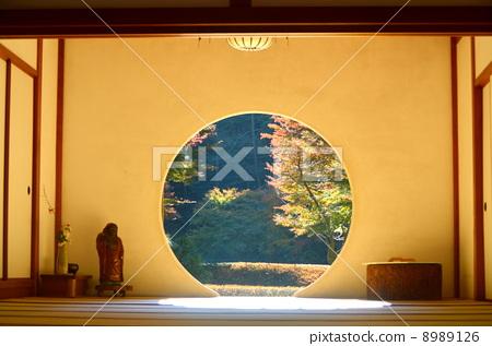 欧式圆窗装饰图片
