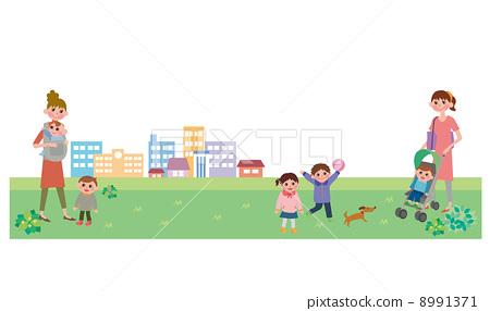 插图素材: 家 小孩 孩童