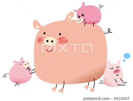 图库插图: 矢量 猪 动物