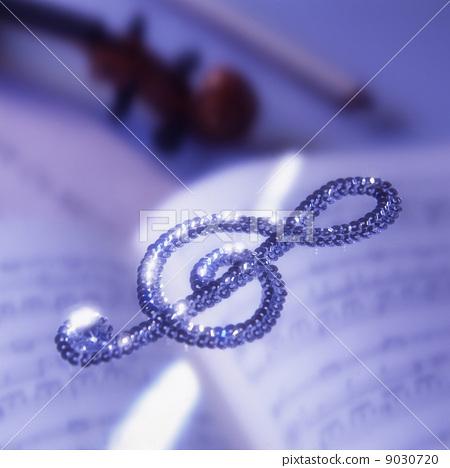 图库照片: g调号 高音谱号 小提琴