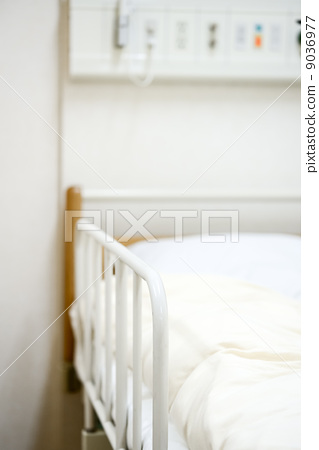 照片素材(图片): 床 病房 没人