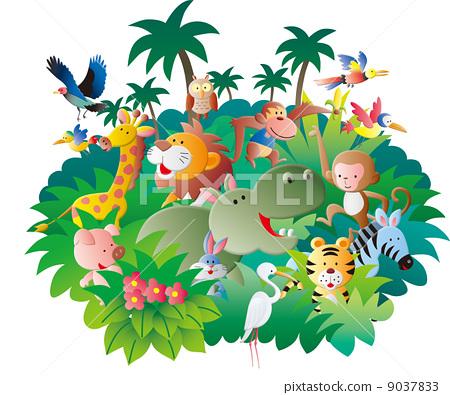 图库插图: 动物 许多 可爱