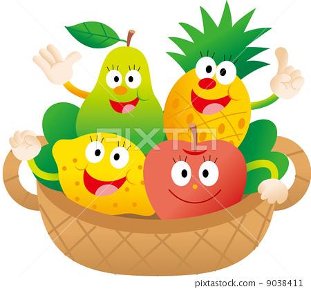 图库插图: 水果 卡通人物 可爱