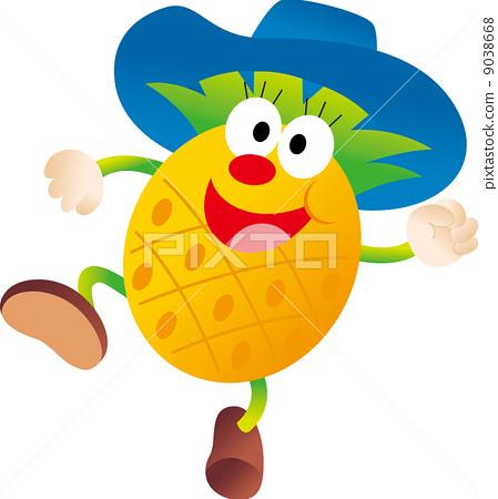 插图素材: 菠萝 凤梨 卡通人物