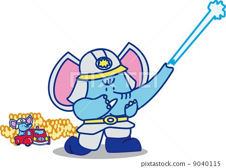 大象 消防员 非凡的人