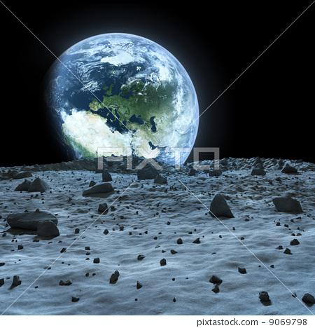 地球 月球表面 层