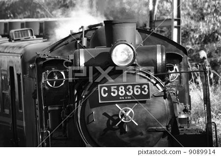 图库照片: 蒸汽机车 秩父铁路 交通素材