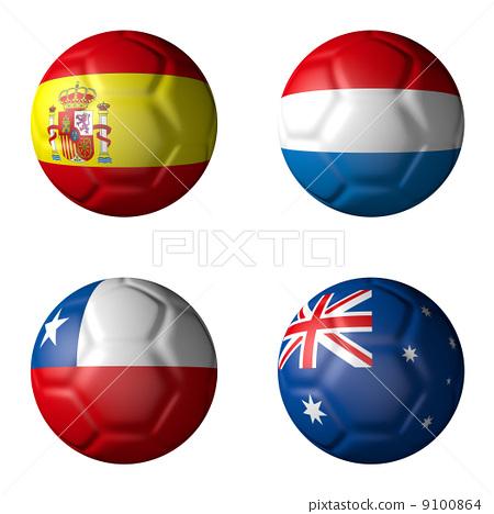 旗子 英式足球 足球