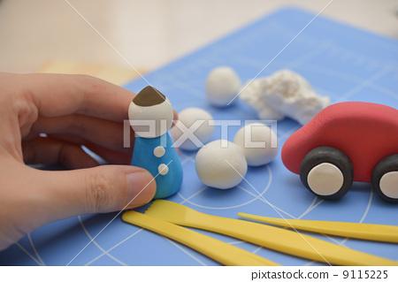 用粘土做东西 粘土工作 手工制作的物品