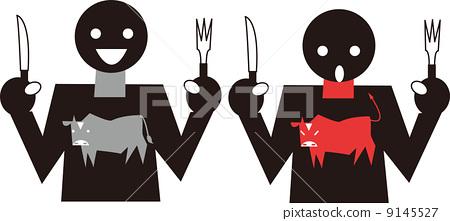 图库插图: 西餐 象形文字 矢量