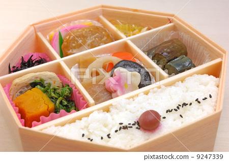 照片素材(图片): 便当 日式便当 配菜