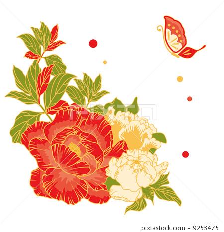 插图素材: 牡丹 花朵 花