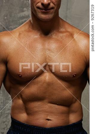 男人 健美运动者 肌肉发达的-图库照片
