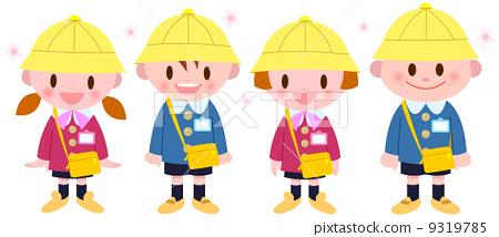 儿童 孩子 樱桃树-图库插图
