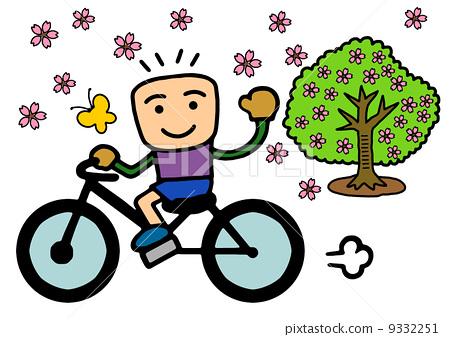 男孩们 孩子 骑自行车图片