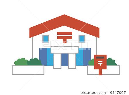 邮局卡通简笔画