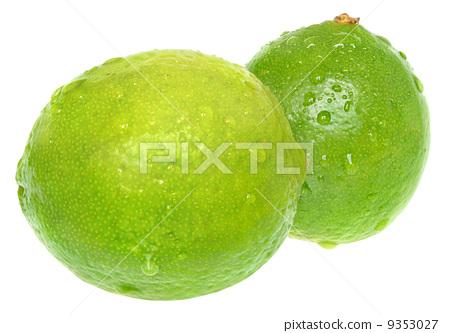 照片: two lime green