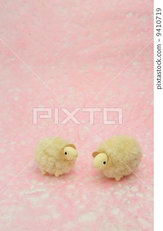 图库照片: 粘土工作 用粘土做东西 绵羊
