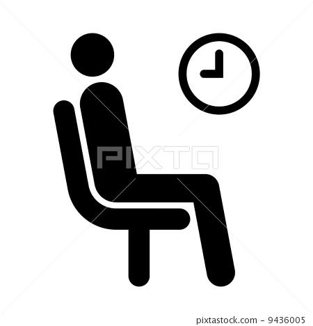插图 矢量图 waiting room symbol