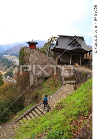 山中寺庙 风景 山峰