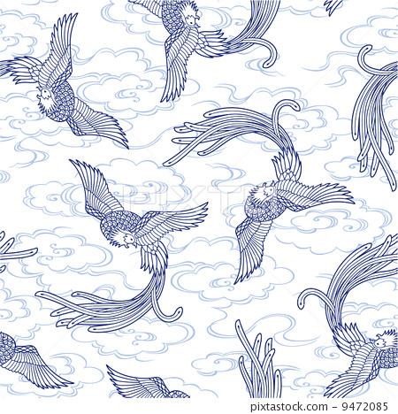 凤凰尾巴手绘图