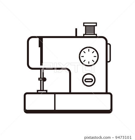 插图素材: 缝纫机 手工艺品 主妇