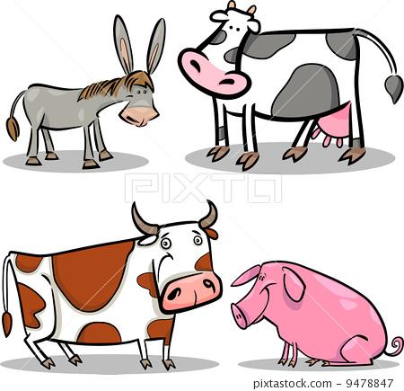 牛羊卡通简笔画