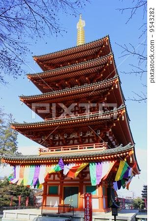 庙宇 寺院 五重塔