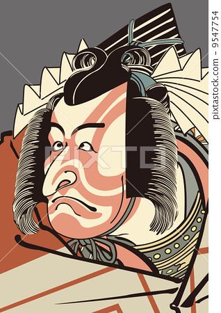 插图 矢量图 歌舞伎 浮世绘 人类