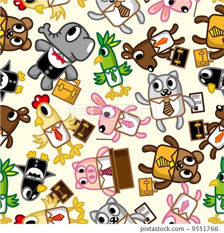 动物 可爱的 包装纸