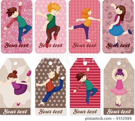 卡通 芭蕾舞女 舞蹈