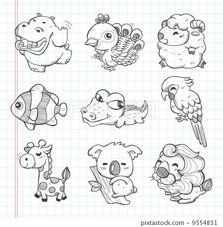 三亚热带海洋动物园_第5页_乐乐简笔画