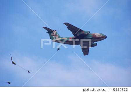 降落伞跳伞 飞机 降落伞