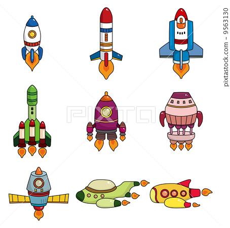 航天 飞机 stock 插图