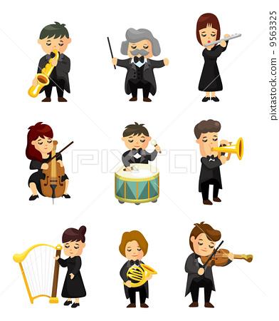 插图素材: 经典的 乐队 交响乐