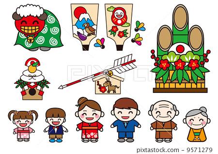 儿童 新年的圣诞树装饰 孩子