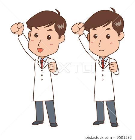 图库插图: 握拳 矢量 男性
